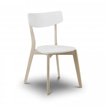 Casa Matt White & Oak Dining Chair
