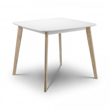 Casa Matt White & Oak Dining Table
