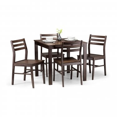 Cassndra Dining Set Of 4, Walnut