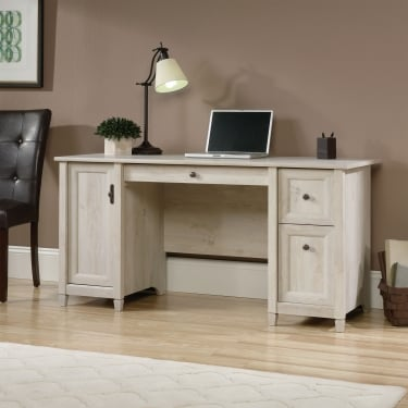 Chalked Chestnut 2 Drawer 1 Door Computer Desk with Adjustable Shelf