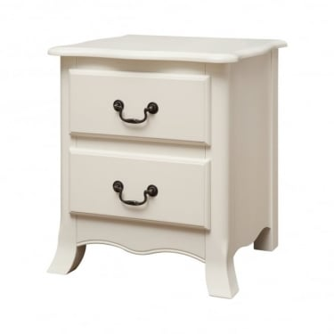 Chantilly Antique Off White 2 Drawer Bedside Cabinet