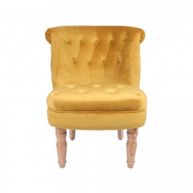 Charlotte Occasional Chair, Mustard & Linen