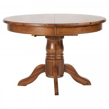 Chaucer Solid Stained Acacia Round Extending Dining Table