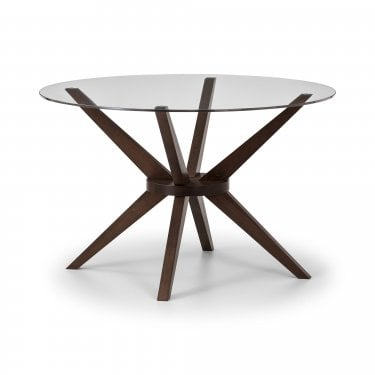 Chelsea Round Dining Table, Clear Glass