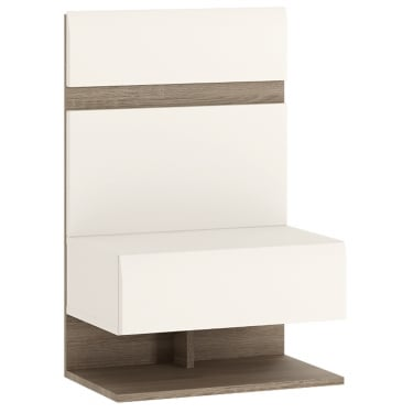 Chelsea White & Oak Trim Bedside Extension