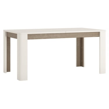 Chelsea White & Oak Trim Extending Dining Table
