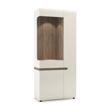 Chelsea White & Oak Trim Wide Display Unit