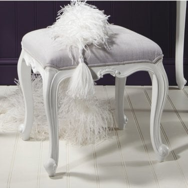 Chic Dressing Table Stool, Vanilla White