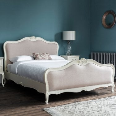 Chic Kingsize French Bed, Vanilla White