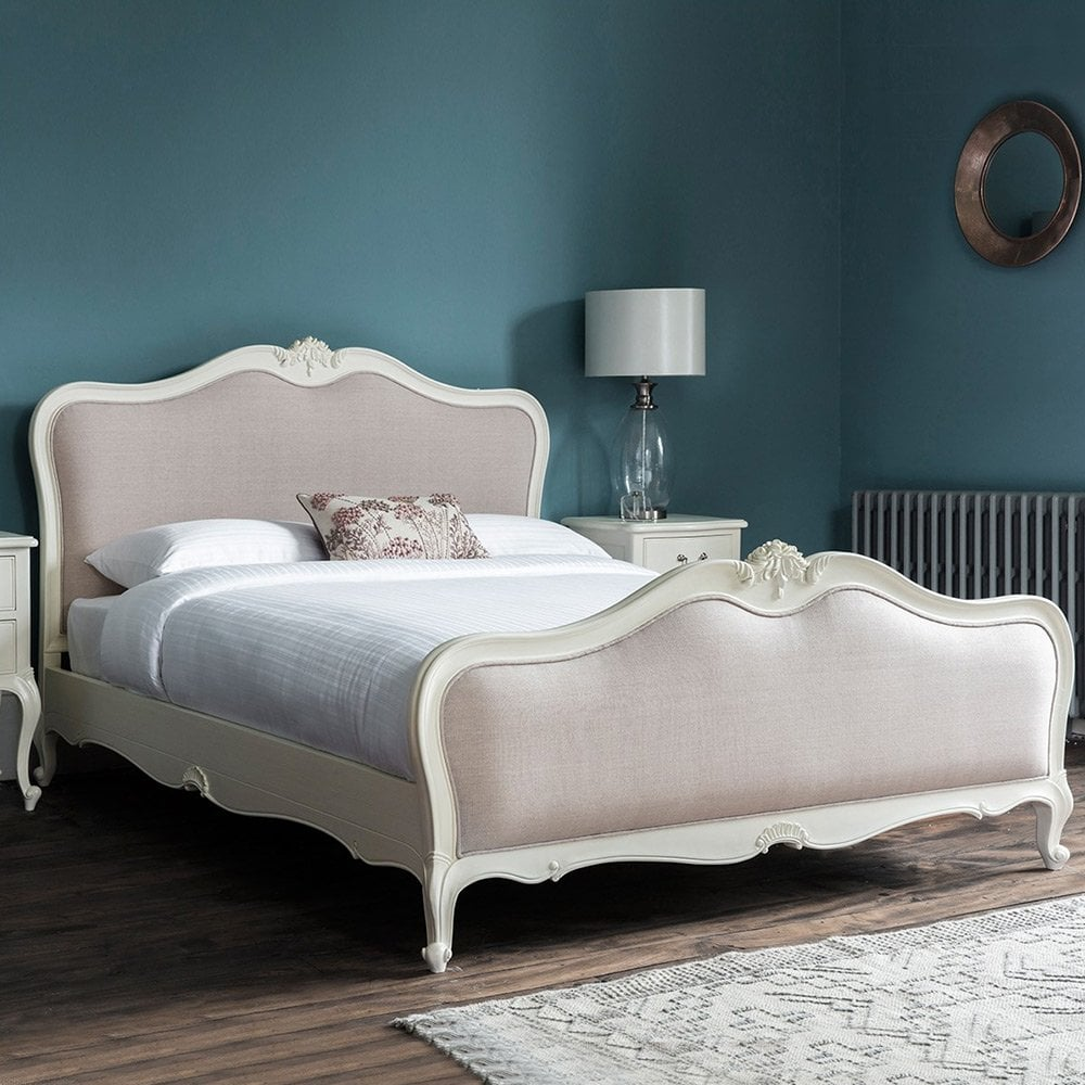 Chic Super Kingsize French Bed, Vanilla White