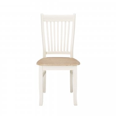 Christensen Dining Chair Set Of 2, Soft White & Distressed Pine