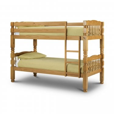 Chunky Antique Pine Single Bunk Bed