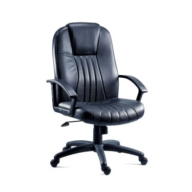 City Black Executive Armchair with Nylon Base