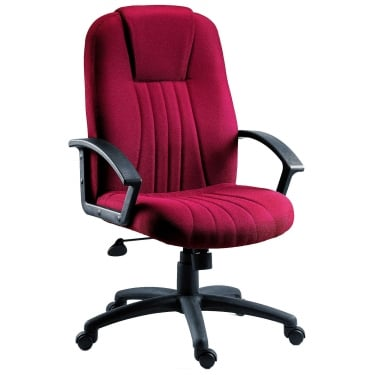 City Burgundy Executive Armchair with Nylon Base