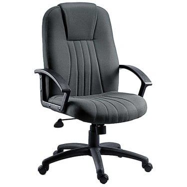 City Charcoal Executive Armchair with Nylon Base
