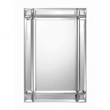 Clara Rectangular Mirror, Silver