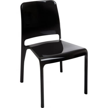 Clarity Black Stacking Chair 4-Pack