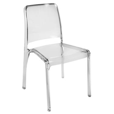 Clarity Clear Stacking Chair 4-Pack