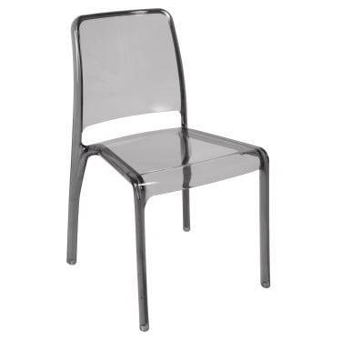 Clarity Smoked Stacking Chair 4-Pack