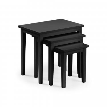 Cleo Black Nest Of Tables