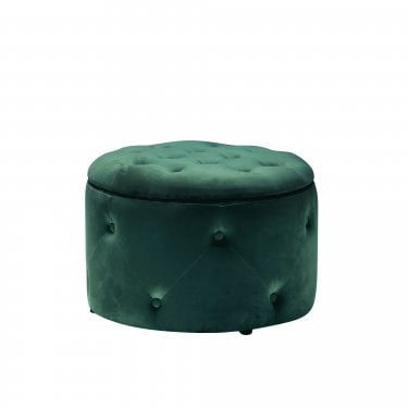 Cleo Round Pouffe, Teal