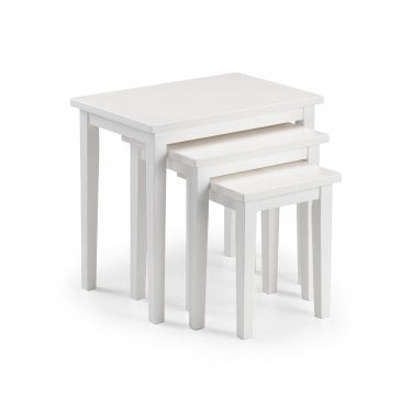 Cleo White Nest of Tables