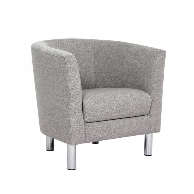 Cleveland Armchair, Light Grey Fabric