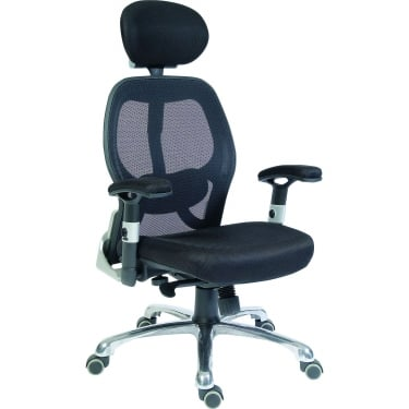 Cobham Black Executive Chair with Steel Base