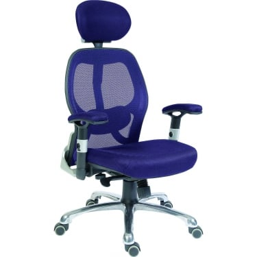 Cobham Blue Executive Chair with Steel Base