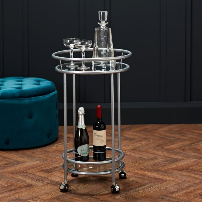 Collins Drinks Trolley, Silver