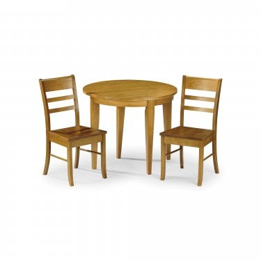 Consort Dining Set Of 2, Honey Pine Effect