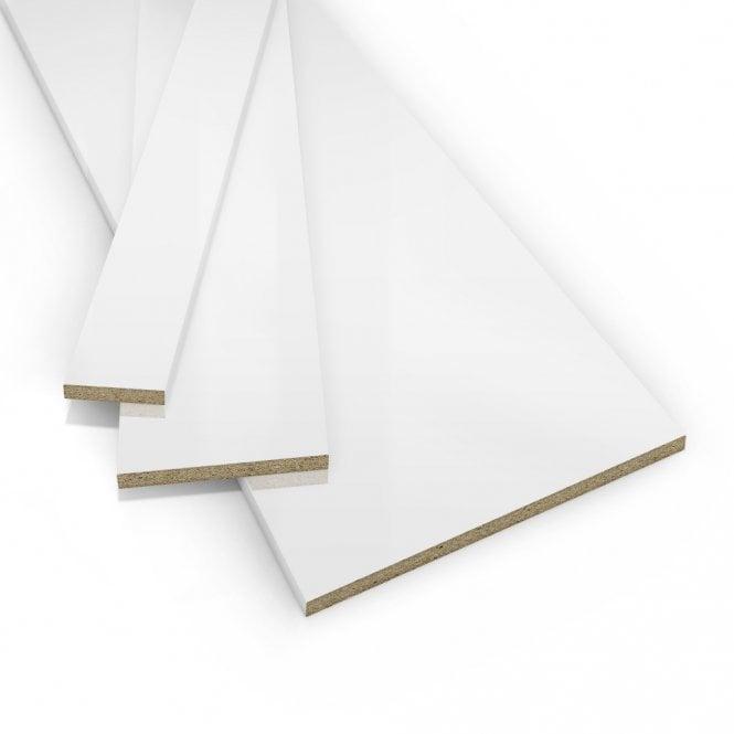 Contiplas 18mm Furniture Board, White Gloss