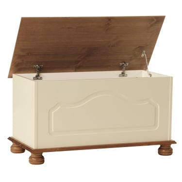 Furniture To Go Copenhagen Cream & Solid Pine Blanket Box (1010802)
