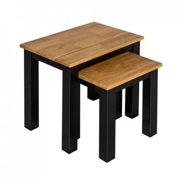 Copenhagen Oiled Oak Nest Of Tables