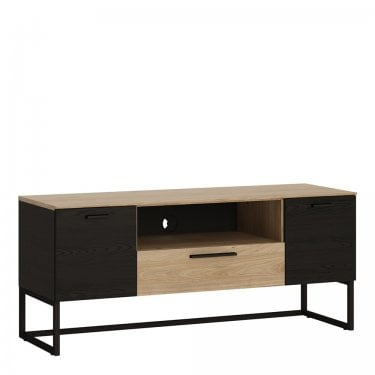 Cordoba Jackson Hickory & Black Accents TV Unit (4360169)