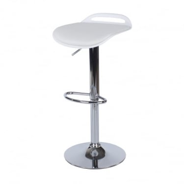 Core Products Aspen ASBS3W White Bar Stool With Padded Seat (Set of 4)