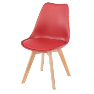 Core Products Aspen ASCH2R Red Chair With Padded Seat