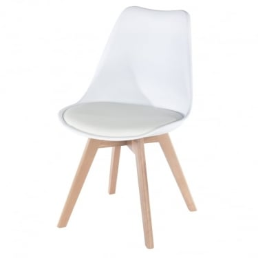 Core Products Aspen ASCH2W White Chair With Padded Seat