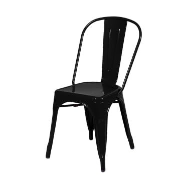 Core Products Aspen Black Metal Occasional Chair Pair with Metal Legs (ASCH10B)