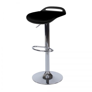 Core Products Aspen Black Upholstered Plastic Adjustable Bar Stool Pair (ASBS3B)