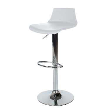 Core Products Aspen White Plastic Adjustable Bar Stool Pair (ASBS2W)
