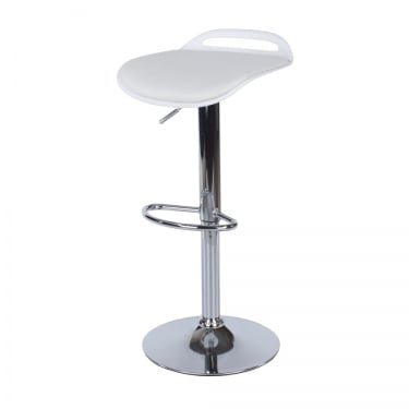 Core Products Aspen White Upholstered Plastic Adjustable Bar Stool Pair (ASBS3W)
