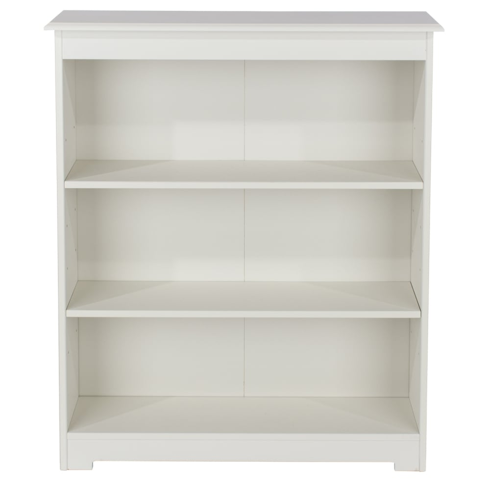 Core Products Banff Warm White MDF Low Wide Bookcase With