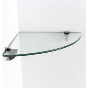 Core Products Clear Glass 250x250mm Corner Shelf Kit (GL250250)