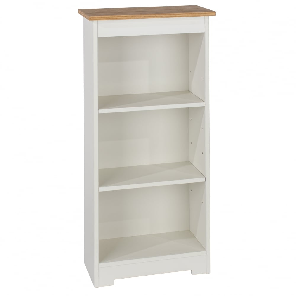 Core Products Colorado Warm White MDF Low Narrow Bookcase
