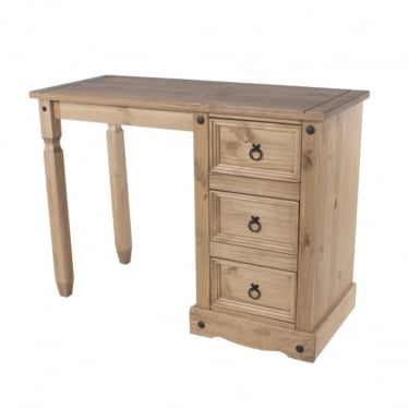 Core Products Corona Antique Wax Pine 3 Drawer Dressing Table (CR518)