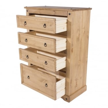 Core Products Corona Antique Wax Pine 4 Drawer Chest (CR514)