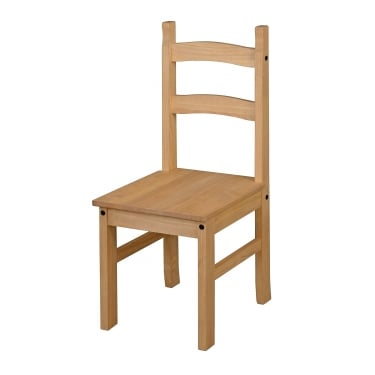Core Products Corona Antique Wax Pine Dining Chair Pair (CR105)