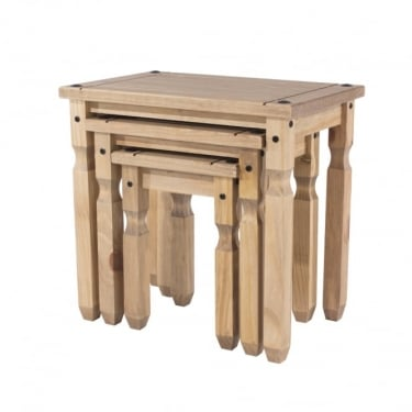 Core Products Corona Antique Wax Pine Nest of Tables (CR907)