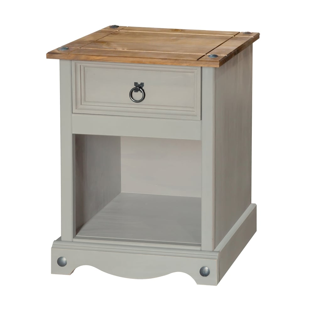 Core Products Corona Grey Washed Effect Pine 1 Drawer